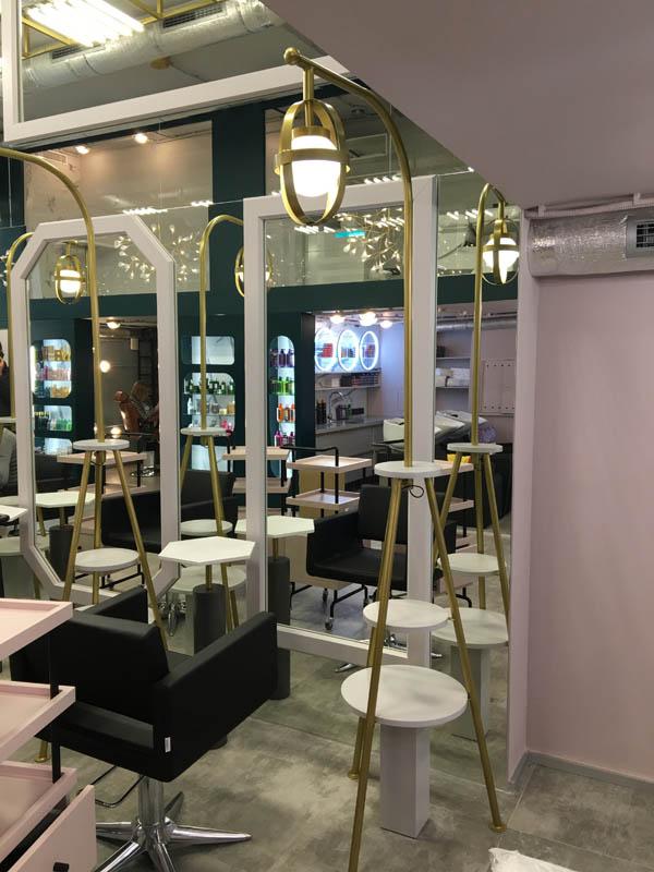 мебель для салона красоты, комплексное оформлетние салона красоты, дизайн мебели для салона красоты, зеркало в салон красоты