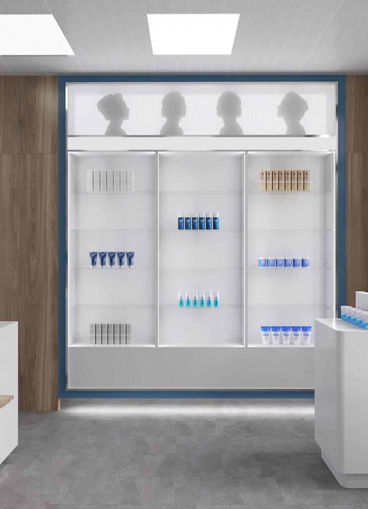 дизайн интерьера аптеки, дизайн интерьера киев, аптека добробут, дизайн коммерческих помещений, дизайн интерьера помещений для бизнеса, дизайн аптеки, дизайн клиники, витрины в аптеке, дизайн витрин в аптеке, дизайн витрин
